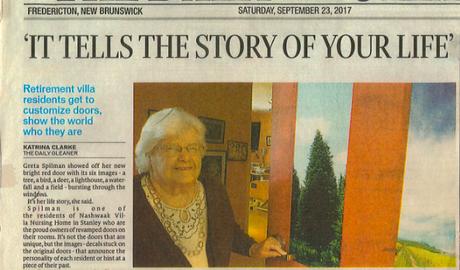 Nashwaak Villa - True Doors Daily Gleaner Article